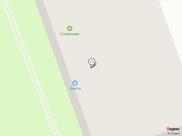 Столетник на карте