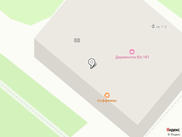 Далматин на карте