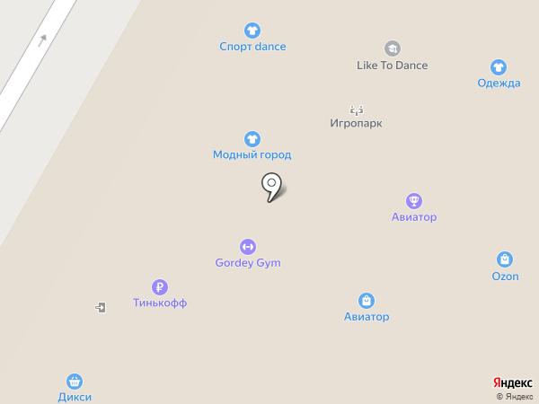 Авиатор на карте