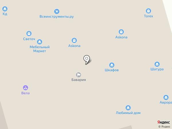 Vela на карте