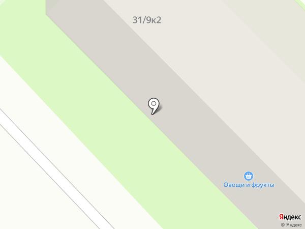 Зелёный город на карте
