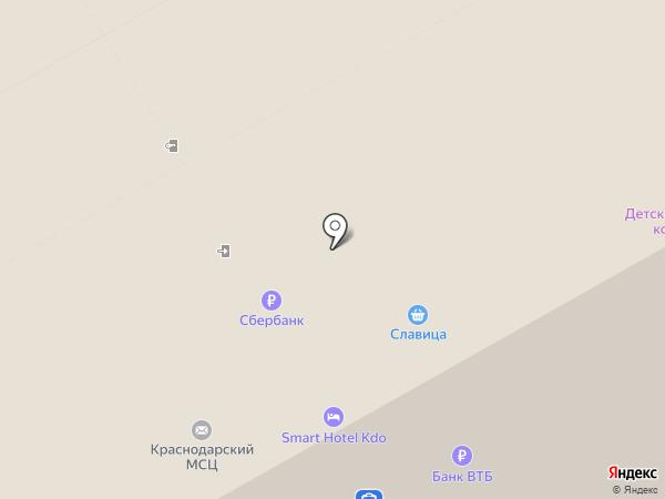 Справочное пригородное сообщение ст. Краснодар-1 на карте