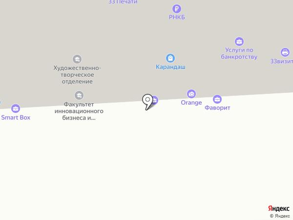 Карбогласс на карте