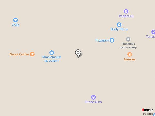 Автомойка на подземной парковке ТРЦ Московский проспект на карте