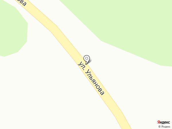 Автомойка на Ульянова (Динская) на карте