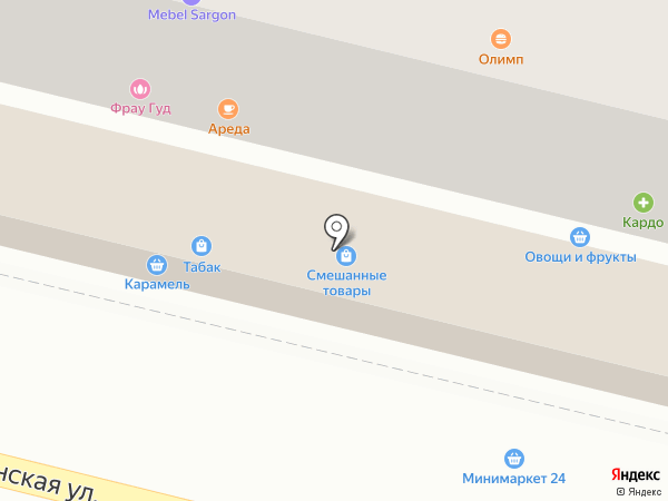 Торес на карте
