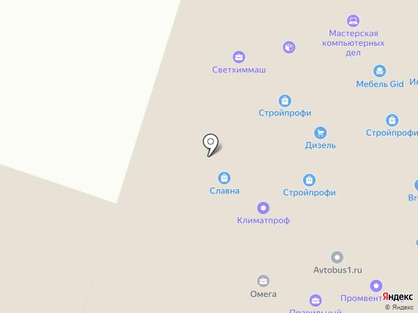 Инфрахим на карте