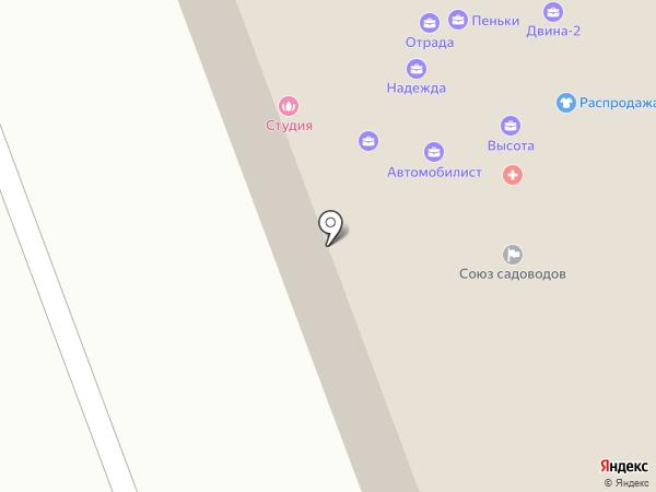 Срубовъ на карте