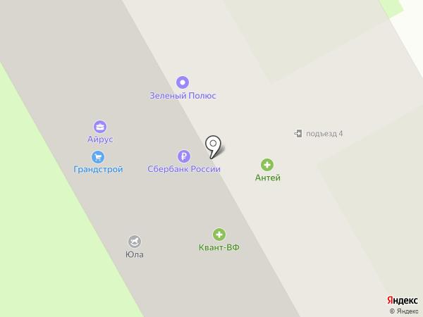 Аллея на карте