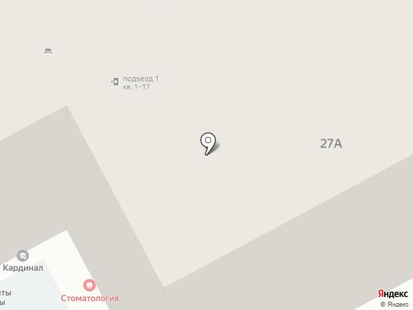 Веер на карте