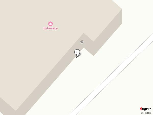 Рублёвка на карте