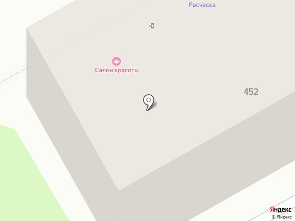 Расческа на карте