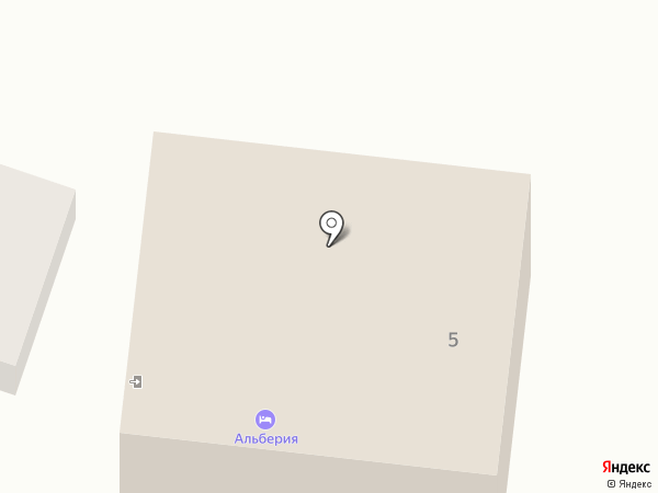 Альберия на карте