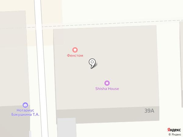 Фенстом на карте
