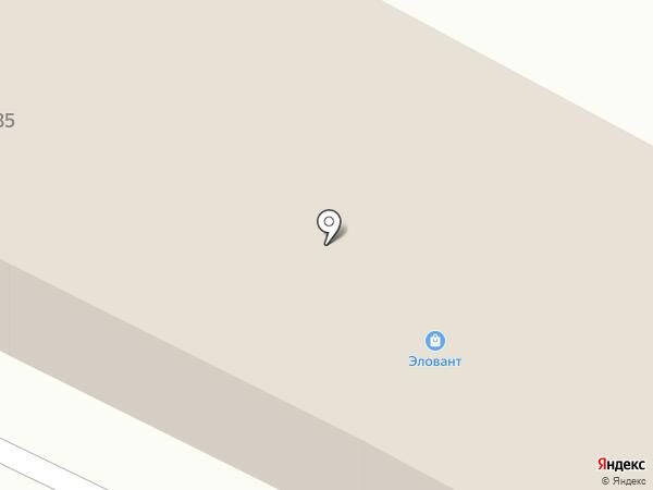 Эловант на карте