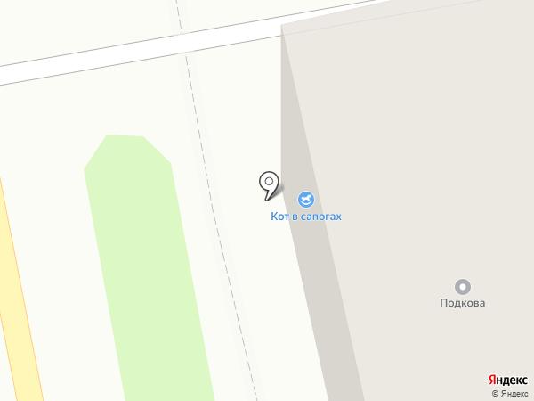 Кот в сапогах на карте