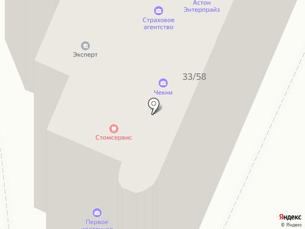 ИнБР на карте