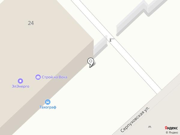 Электровоз на карте
