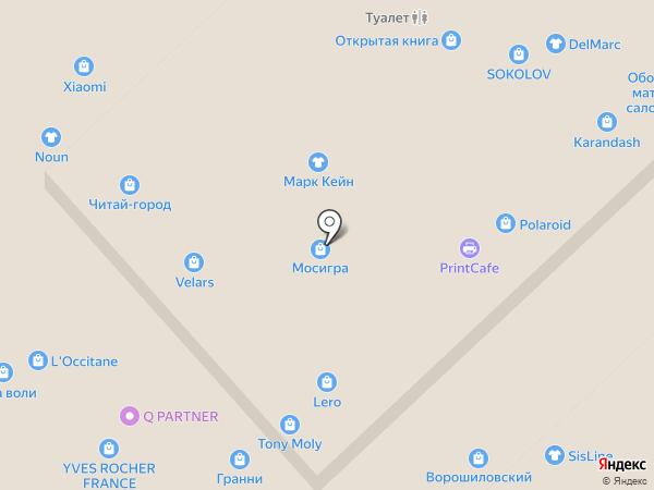 Мосигра на карте