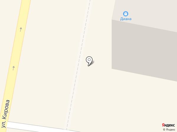 Село Крутенькое на карте