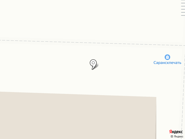 Саранск печать на карте