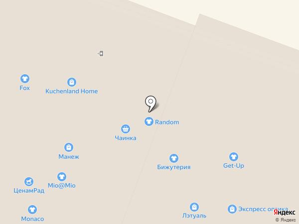 Get-up на карте