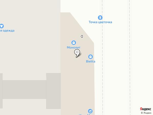 Магазин текстиля на карте