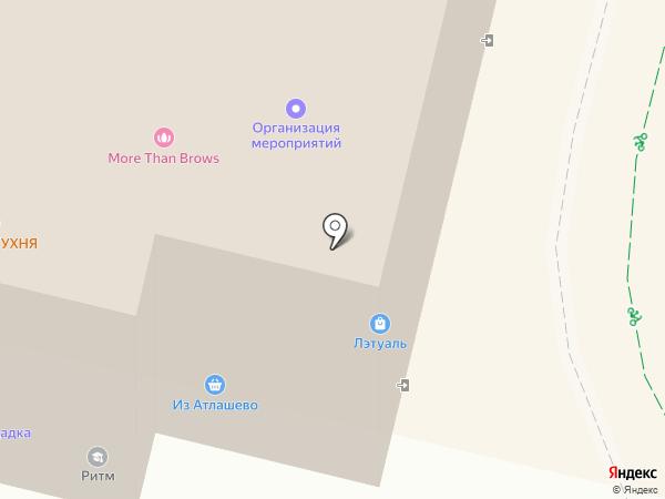 Из Атлашево на карте
