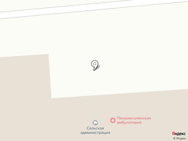 Пекшиксолинская сельская библиотека на карте
