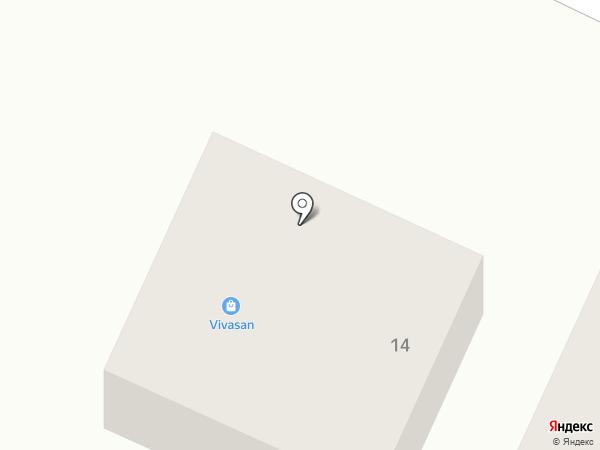 Бережок на карте