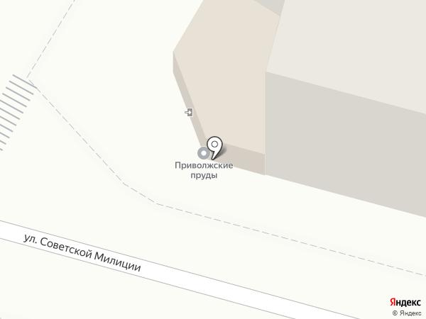 Приволжские Пруды на карте