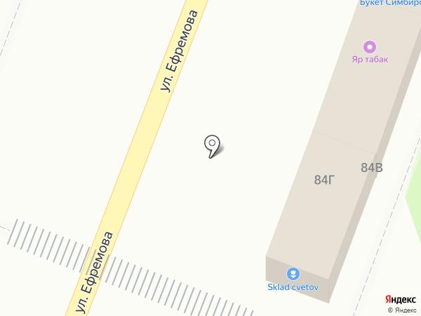 Букет Симбирска на карте