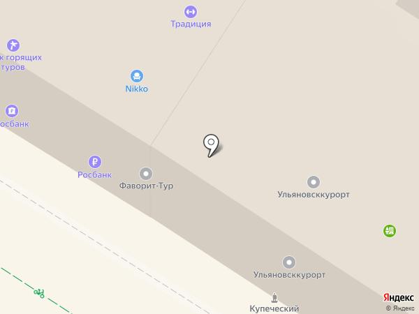 Чайка на карте