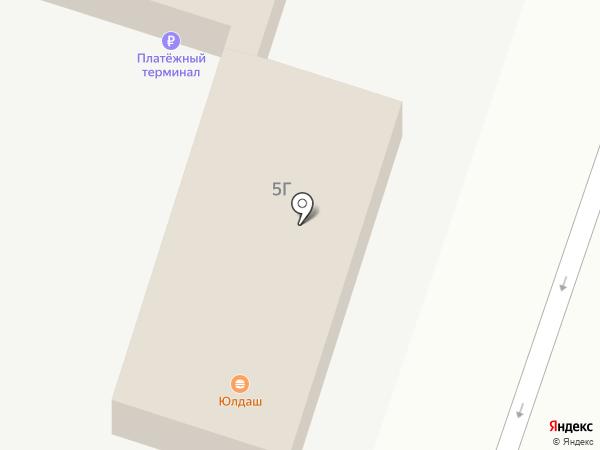 Юлдаш на карте