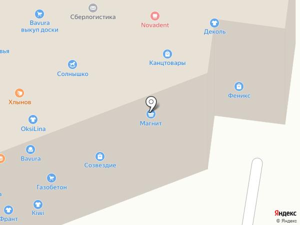 Франт на карте