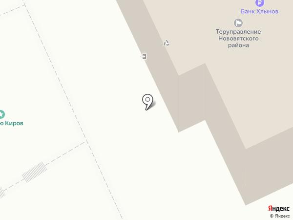 Платежный терминал, КБ Хлынов на карте