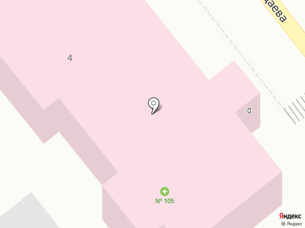 Аптека №105 на карте