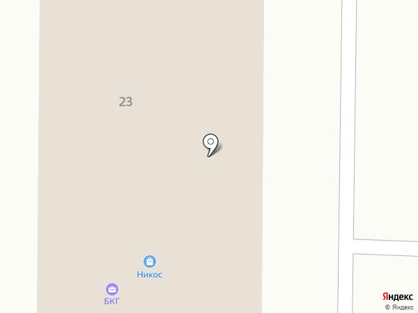 БКГ на карте