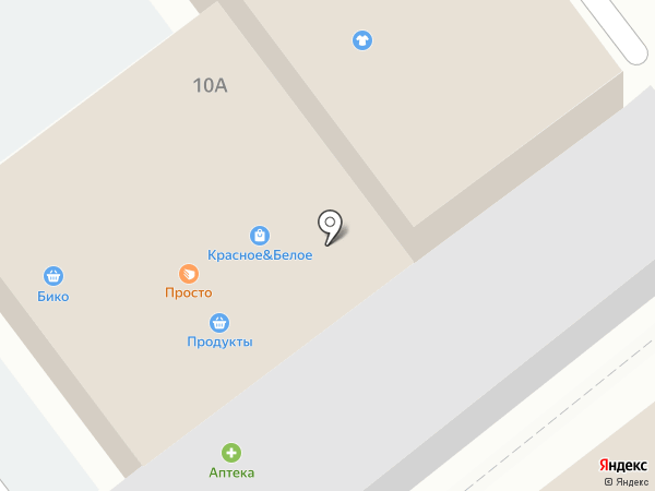 Магазин продуктов на Невской на карте