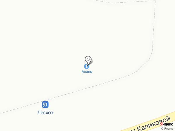 Акань на карте