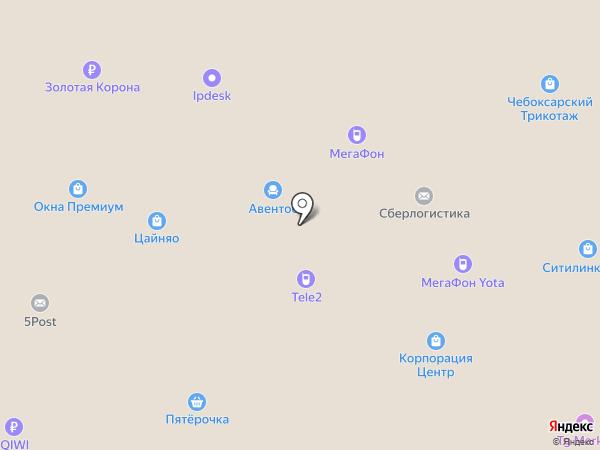 Авентос на карте