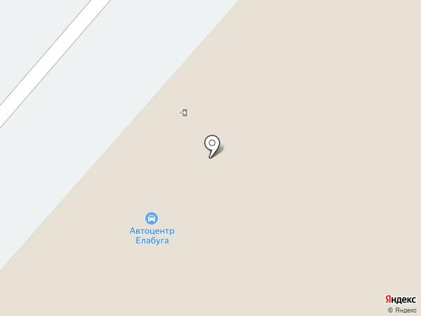 Елабуга на карте