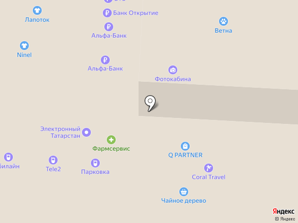 Инфомат самообслуживания, Правительство Республики Татарстан на карте