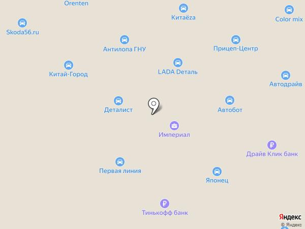 Аварийные комиссары в Автограде на карте