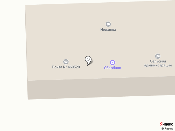 Нежинка на карте
