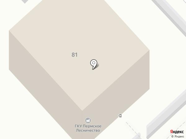 Пермское лесничество на карте