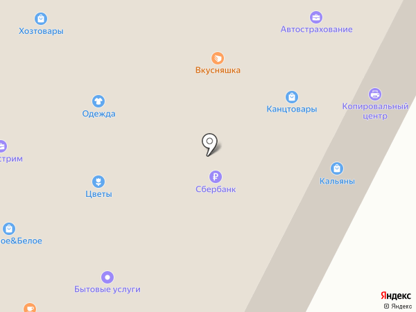 Магазин овощей и фруктов на карте