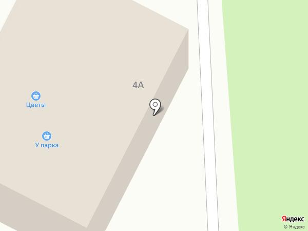 У парка на карте
