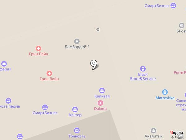 Грин Лайн на карте