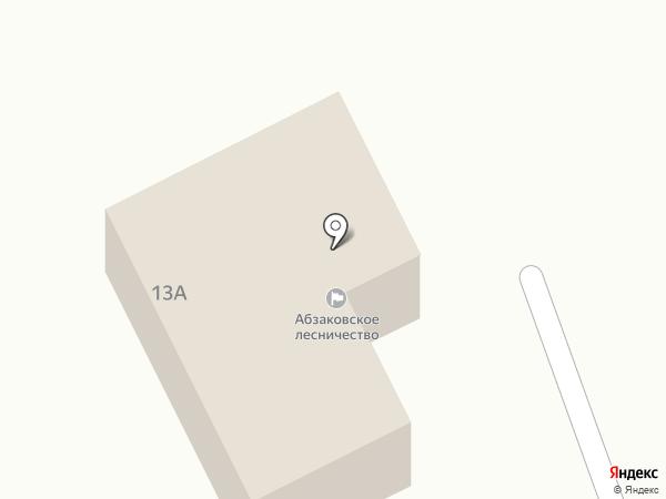 Абзаковское участковое лесничество на карте